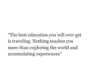 quotes, travel, and education image