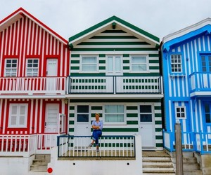 beach house, colors, and Houses image