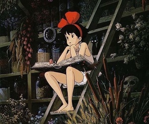 kiki's delivery service, kiki, and anime image