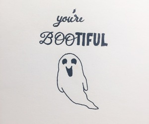 drawing, ghost, and Halloween image