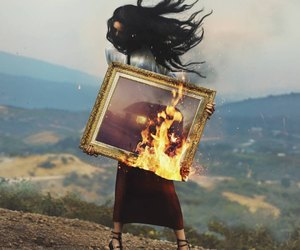 alternative, beauty, and bonfire image