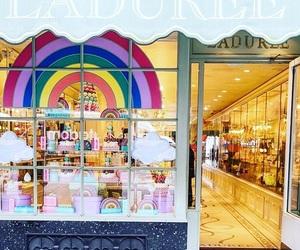 boutique, macaron, and paris image