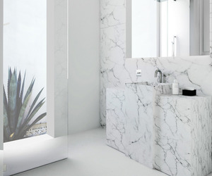 white, bathroom, and home image