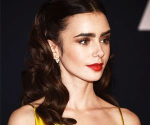 yellow and lily collins image