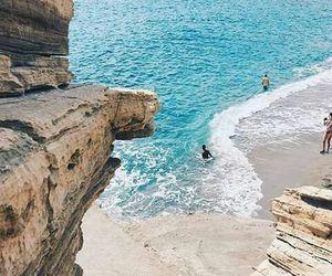 beach, crete, and Island image