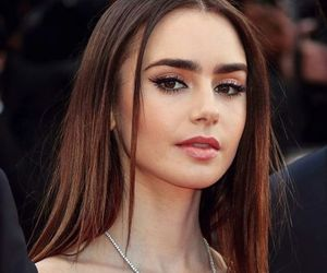 lily collins and hair image