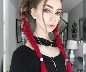 braid, earrings, and grunge image