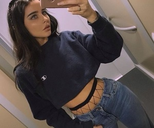 girl, outfit, and beauty image