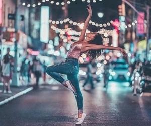 light, girl, and dance image