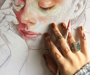 art, drawing, and painting image