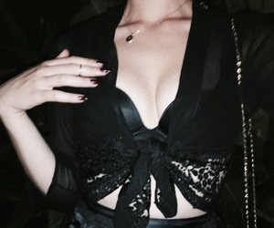 pale skin and black outfit image