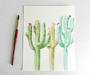 art, cactus, and journal image