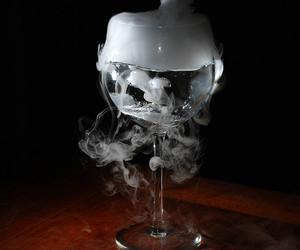 cup, glass, and smoke image
