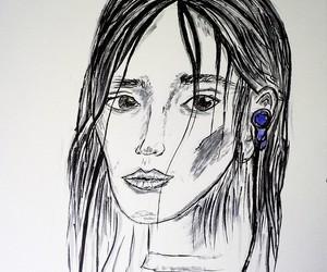 art, beauty, and earphones image