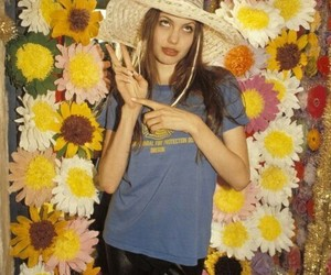Angelina Jolie, flowers, and 90s image