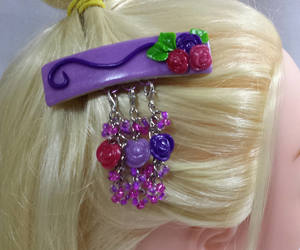 barrette, hair, and hair pin image