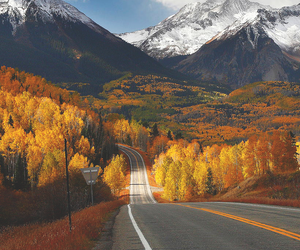 mountains, autumn, and fall image