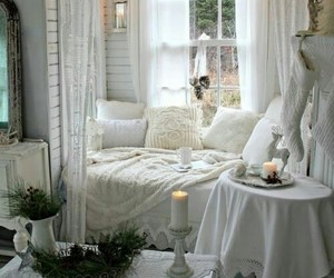 bed, home, and decke image