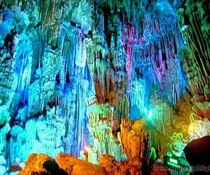 cave, crystal, and rainbow image