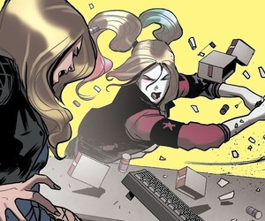 Black Canary, harleen quinzel, and harley quinn image