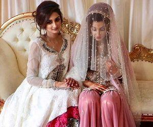 best friends, indian bride, and pakistani bride image