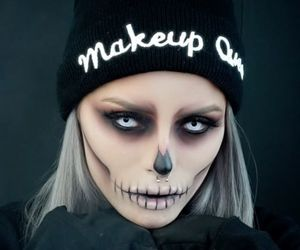 Halloween, makeup, and halloween makeup image
