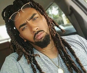 beautiful, dreads, and green eyes image