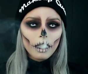 makeup, Halloween, and halloweenmakeup image