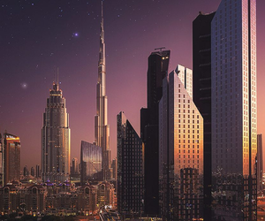 city, sky, and stars image