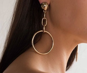 earrings, fashion, and hoops image