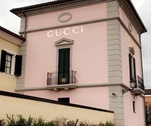 gucci, pink, and building image