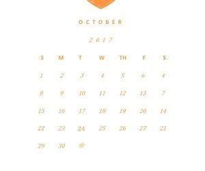 date, october, and calendar image