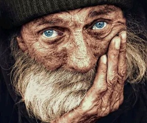 eyes, old, and man image