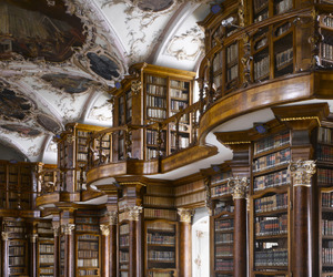 books, library, and beautiful image