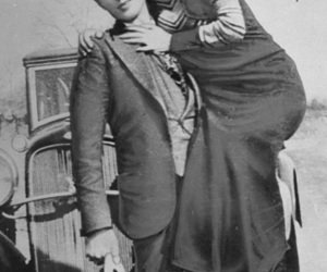 bonnie and clyde, couple, and Clyde image