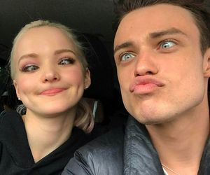 couple, dove cameron, and thomas doherty image