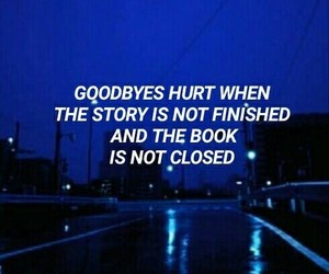 blue, quote, and sad image