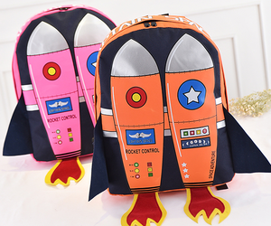 backpack, funny, and rocket image