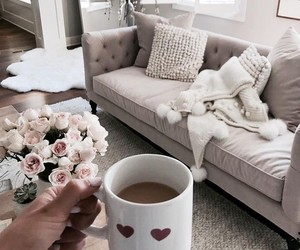 cozy, grey, and home sweet home image