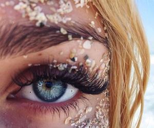 eyes, girl, and sand image