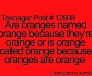 orange, funny, and teenager post image