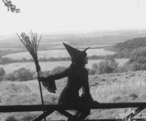 witch and black and white image