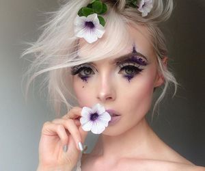 fashion, flowers, and makeup image