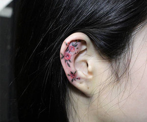 tattoo, ear, and art image