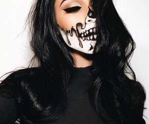 article, Halloween, and makeup image