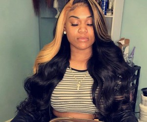 beauty, frontal, and hair image