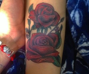 roses, tatto, and tattos image