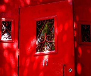 aesthetic and red door image