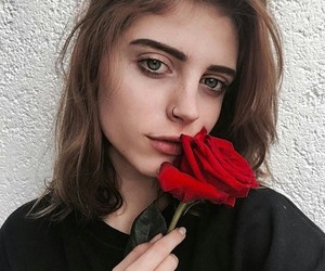 girl, girls, and roses image