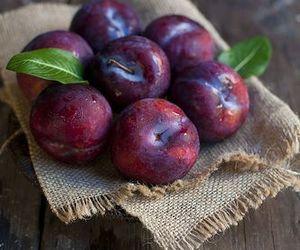 fruit, plum, and lavendar image